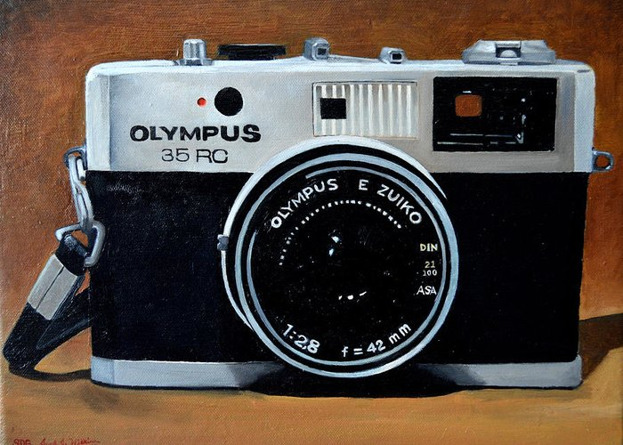 Olympus Greeting Card featuring the painting Olympus by Jared Wilkins