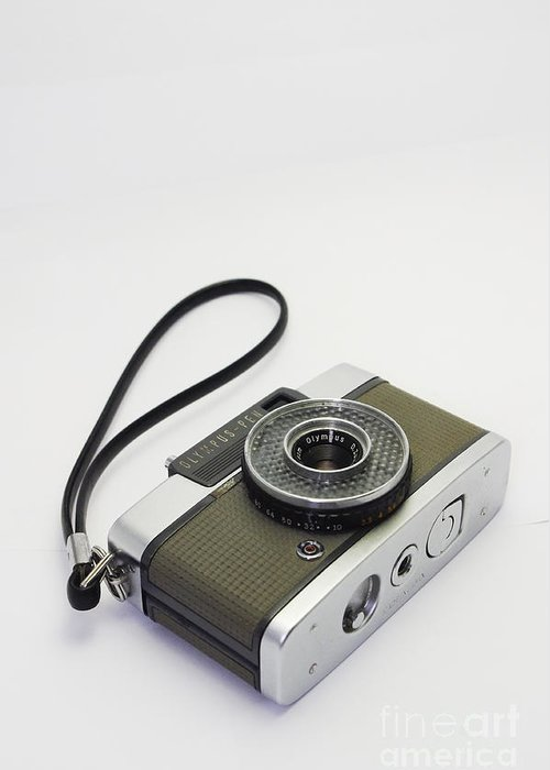 Olympus Greeting Card featuring the photograph Olympus Pen-film Camera by Tuimages