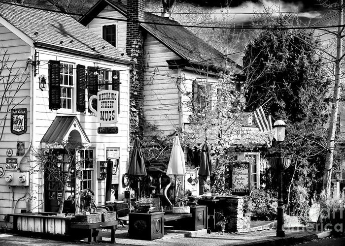 On Mechanic Street Greeting Card featuring the photograph On Mechanic Street by John Rizzuto