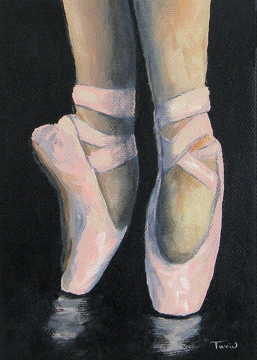 Ballet Greeting Card featuring the painting On Point IV by Torrie Smiley