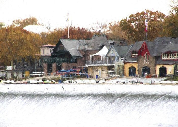 Boathouse Row Greeting Card featuring the photograph On The Edge by Alice Gipson