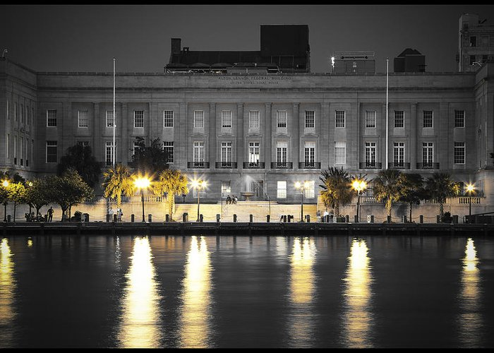 Wilmington Greeting Card featuring the photograph On The River At The Courthouse by Chris Brehmer Photography
