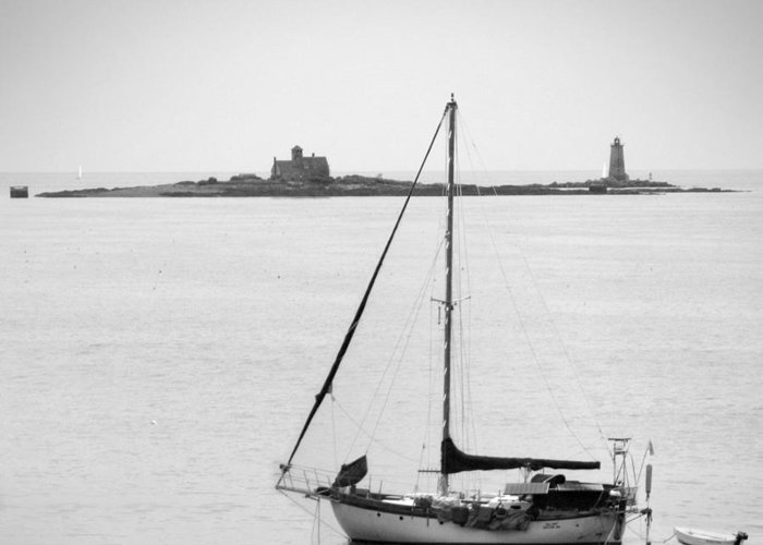 Lighthouse Greeting Card featuring the photograph On The Water by Mike McGlothlen