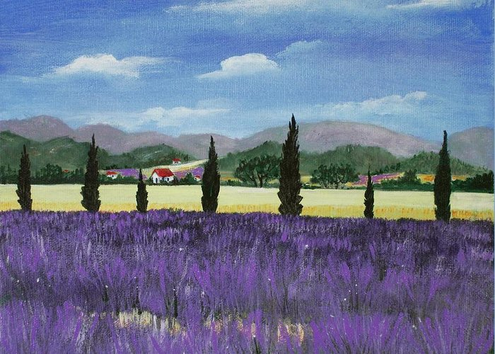 Malakhova Greeting Card featuring the painting On The Way To Roussillon by Anastasiya Malakhova