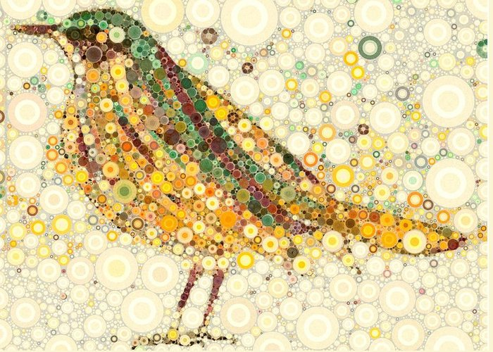 Robin Greeting Card featuring the digital art On Tuesday by Steven Boland