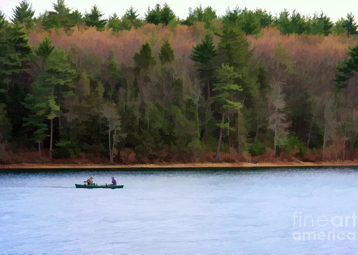Walden Pond Greeting Card featuring the photograph On Walden Pond by Jayne Carney
