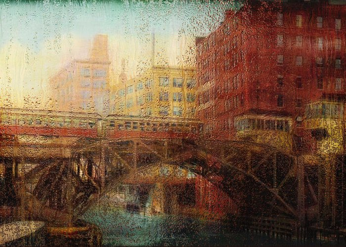 Photo Greeting Card featuring the painting Once A Rainy Day by Jack Zulli