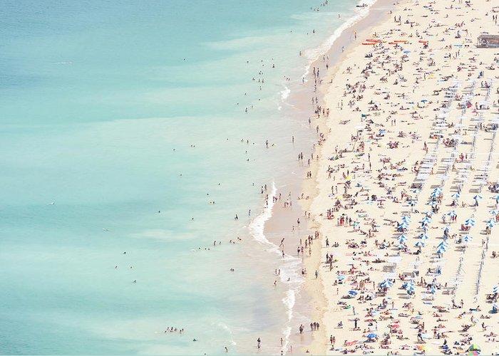 Water's Edge Greeting Card featuring the photograph Ondarreta Beach, San Sebastian, Spain by John Harper