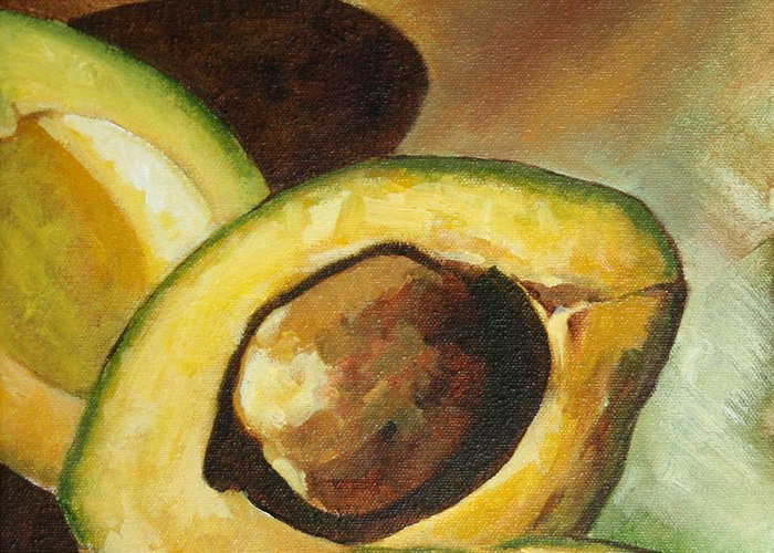 Still Life Greeting Card featuring the painting One And Half by Pepe Romero