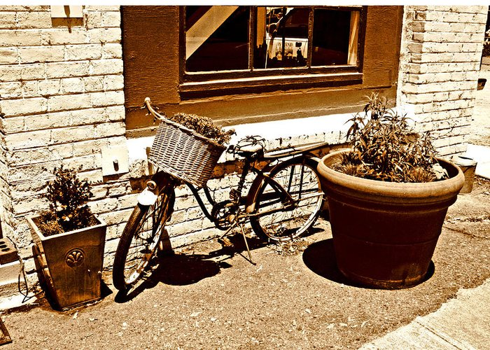 Bicycle Prints Greeting Card featuring the photograph One Hour Parking by Joseph Coulombe
