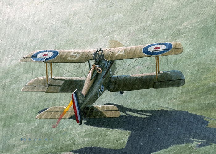 Se5a Greeting Card featuring the painting One Of The Yanks by Wade Meyers