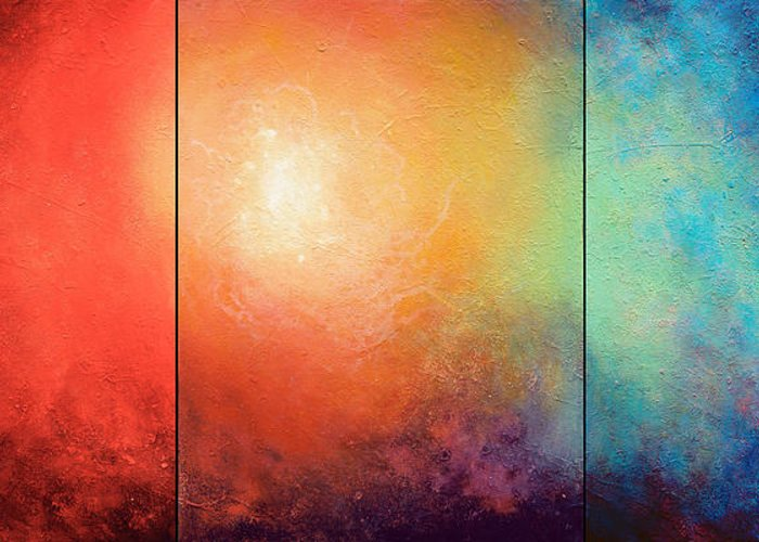 Abstract Greeting Card featuring the painting One Verse by Jaison Cianelli