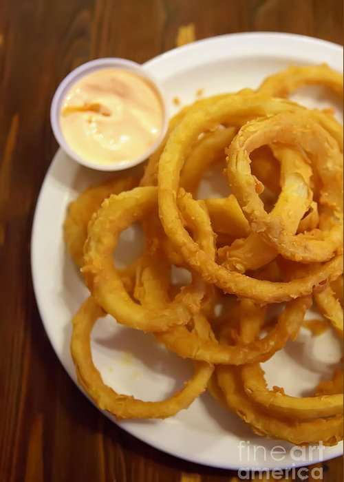 Onion Rings Greeting Card featuring the photograph Onion Rings by Kay Pickens