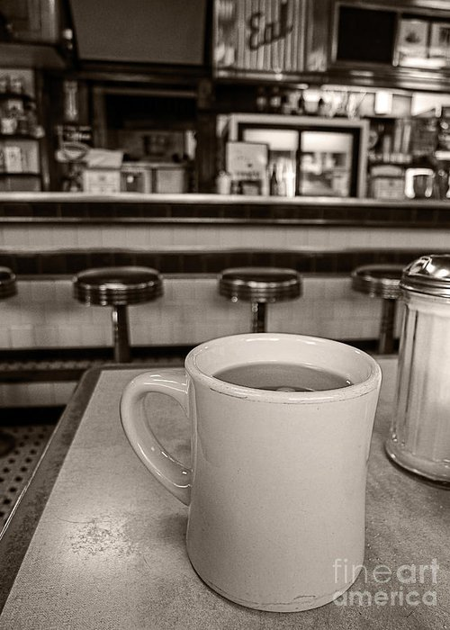Diner Greeting Card featuring the photograph Open All Night by Edward Fielding