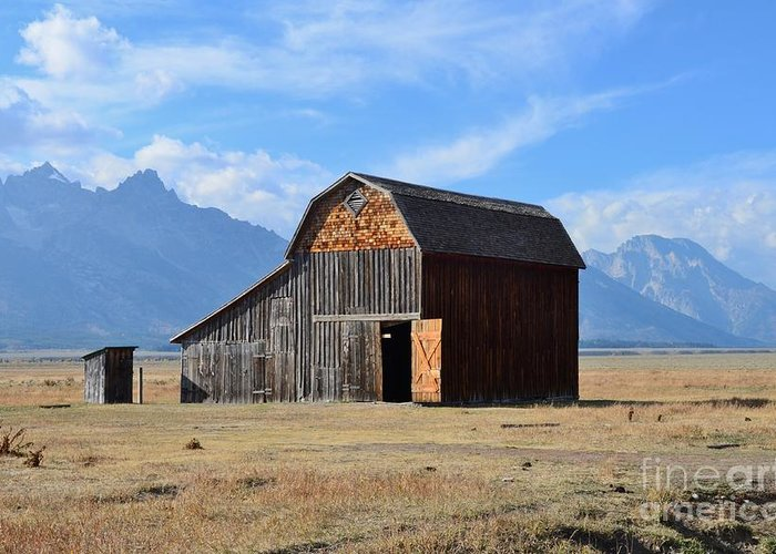 #barn Greeting Card featuring the photograph Open Door Colored Version by Kathleen Struckle
