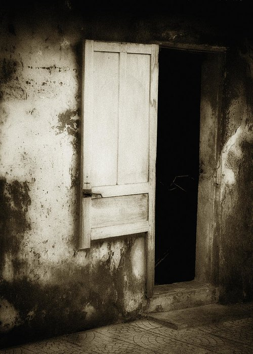 Asia Greeting Card featuring the photograph Open Door by Skip Nall