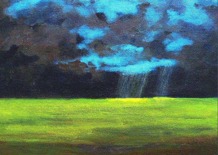 Poster Greeting Card featuring the painting Open Field IIi by Patricia Awapara