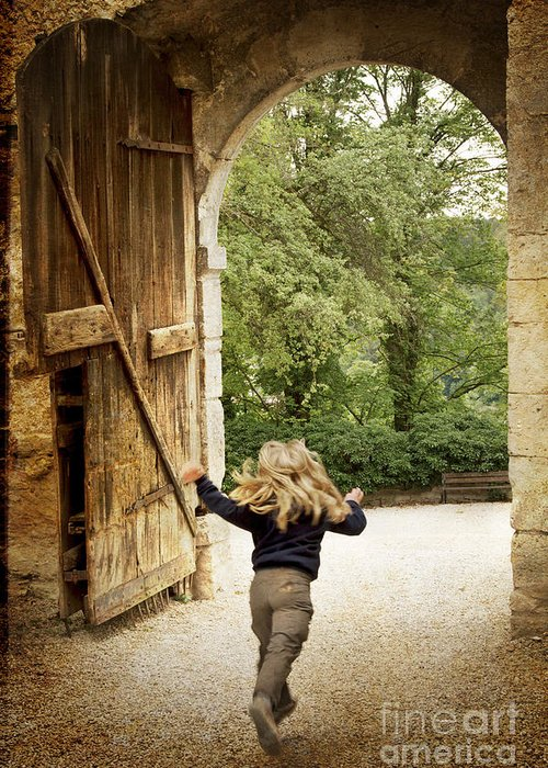 Heiko Greeting Card featuring the photograph Open Gate by Heiko Koehrer-Wagner