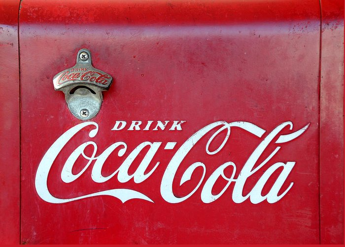 Coca Cola Greeting Card featuring the photograph Open The Real Thing by David Lee Thompson