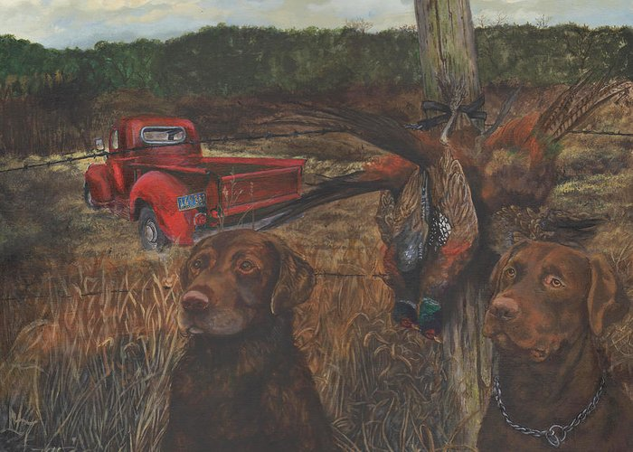 Americana Greeting Card featuring the painting Opening Day by Kathleen Kelly Thompson