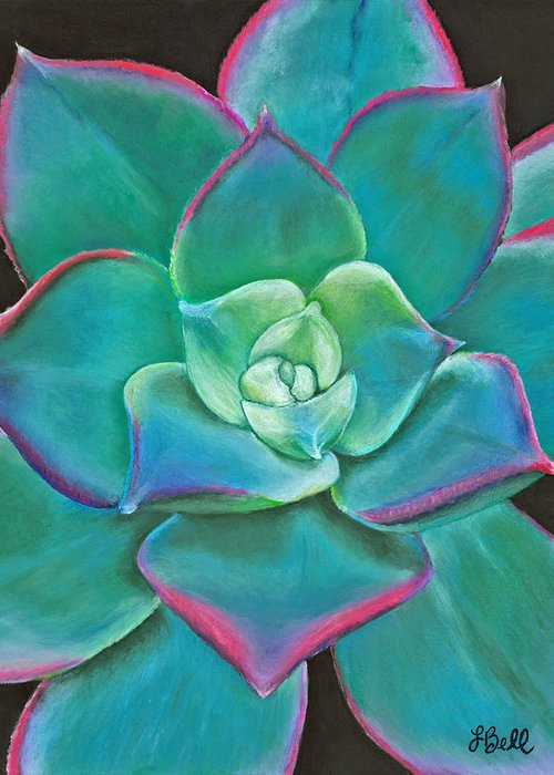 Succulent Greeting Card featuring the drawing Opulence by Laura Bell