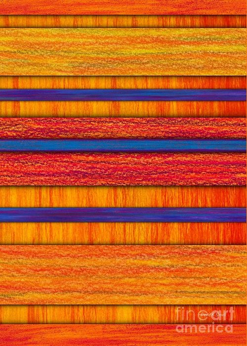 Colored Pencil Greeting Card featuring the painting Orange And Blueberry Bars by David K Small