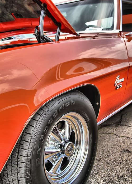 Orange Chevelle Ss 396 Greeting Card featuring the photograph Orange Chevelle Ss 396 by Dan Sproul