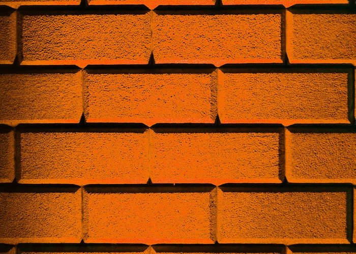 Orange Greeting Card featuring the photograph Orange Wall by Semmick Photo