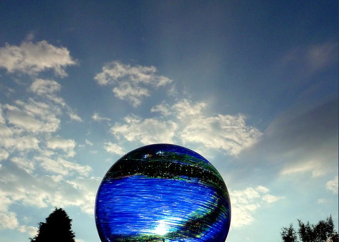 Skyscape Greeting Card featuring the photograph Orb On Sky by Baato