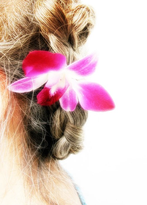 Braided Updo Greeting Cards