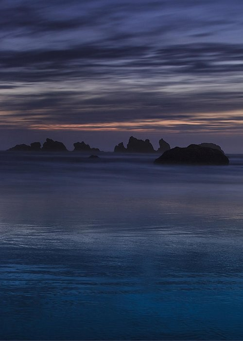 Beach Greeting Card featuring the photograph Oregon Coast After Sunset by Andrew Soundarajan
