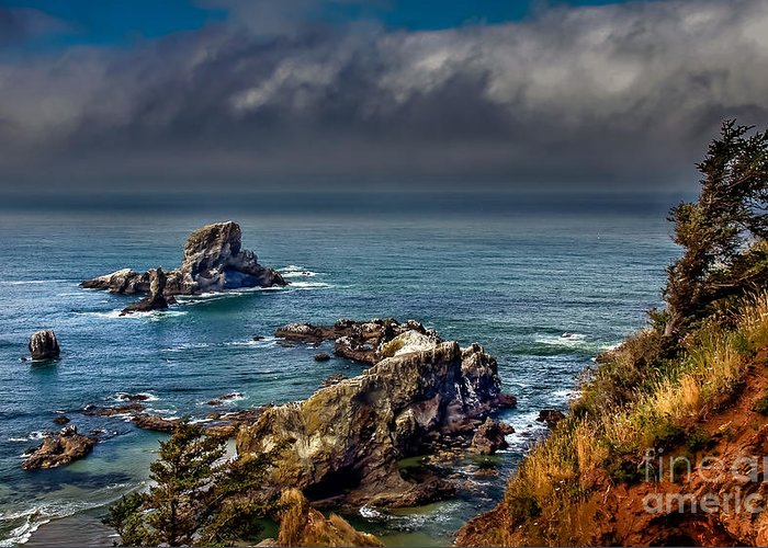 Oregon Coast. Seascape Greeting Card featuring the photograph Oregon Coast by Robert Bales