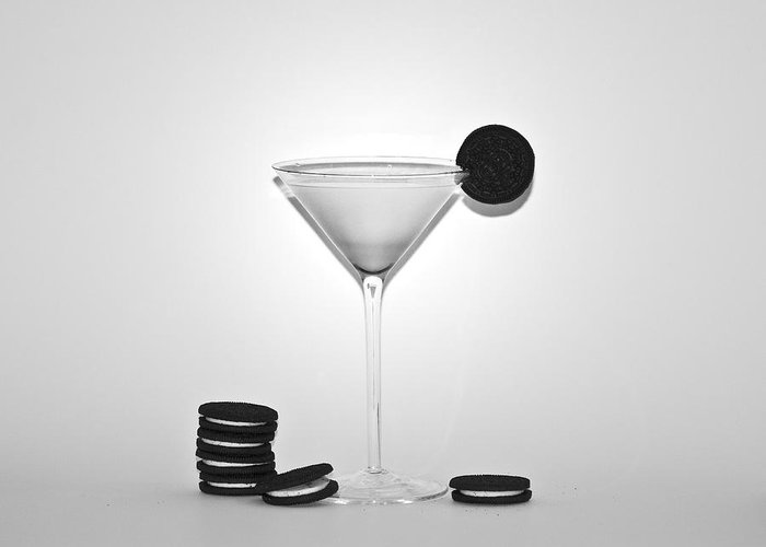 Oreo Happy Hour Greeting Card featuring the photograph Oreo Happy Hour by Bill Cannon