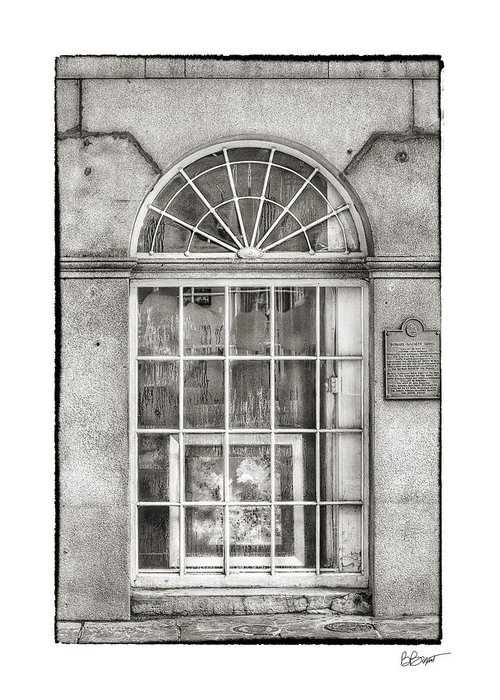 Window Greeting Card featuring the photograph Original Art For Sale In Black And White by Brenda Bryant