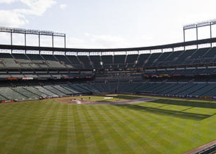 oriole Park Greeting Card featuring the photograph Oriole Park At Camden Yards by Darleen Stry