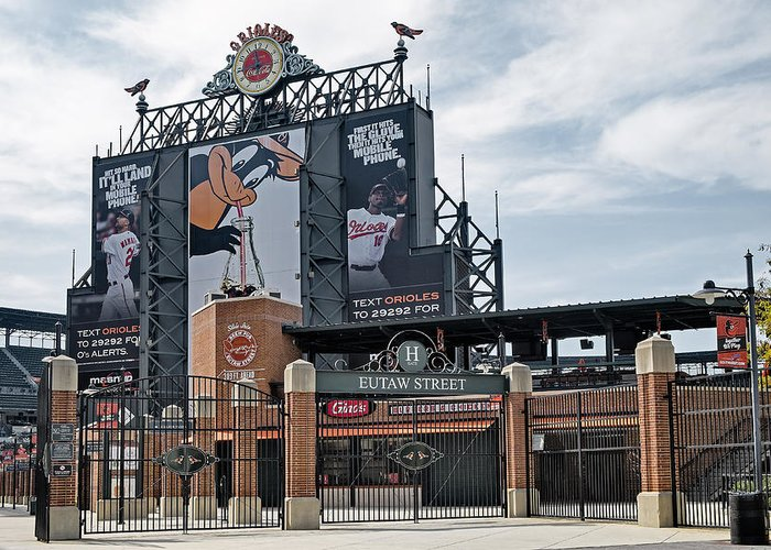 Baltimore Greeting Card featuring the photograph Oriole Park At Camden Yards by Susan Candelario