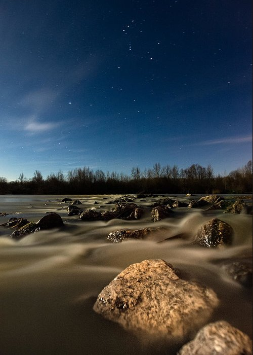 Landscape Greeting Card featuring the photograph Orion by Davorin Mance
