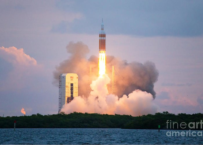 Nasa Greeting Card featuring the photograph Orion Test Launch, Cape Canaveral by Chris Cook