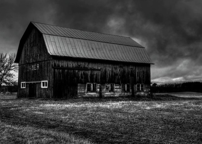 Oslo Corner Barn Greeting Card featuring the photograph Oslo Corner 1 by Thomas Young