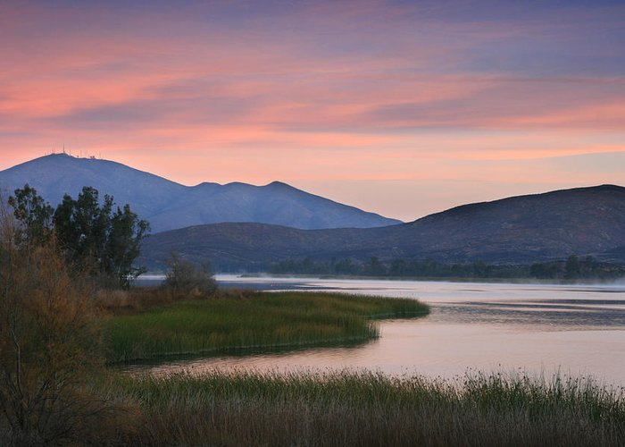 Landscape Greeting Card featuring the photograph Otay Lake Sunrise by Scott Cunningham