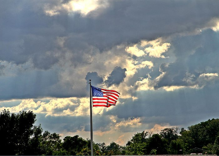 Flag Photograph Greeting Card featuring the photograph Our Country by Dan Sproul