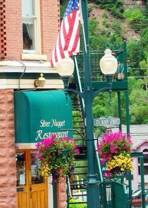 Ouray Greeting Card featuring the photograph Ouray Street Lamp by Trisha Buchanan