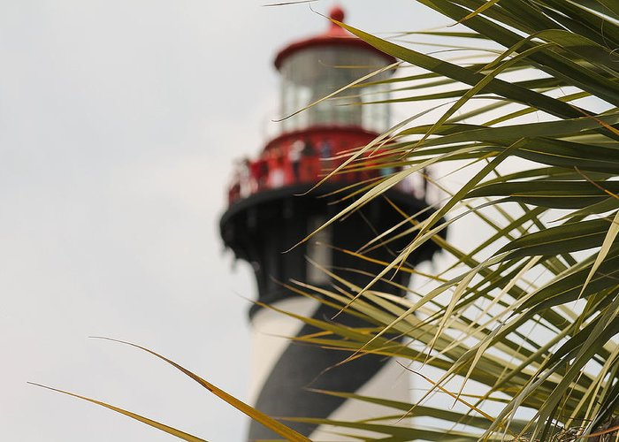 Lighthouse Greeting Card featuring the photograph Out Of Focus Lighthouse by Jessica Brown