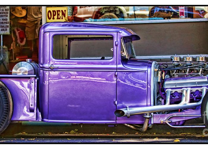 Vintage Pickup Greeting Card featuring the photograph Out Shopping By Diana Sainz by Diana Sainz