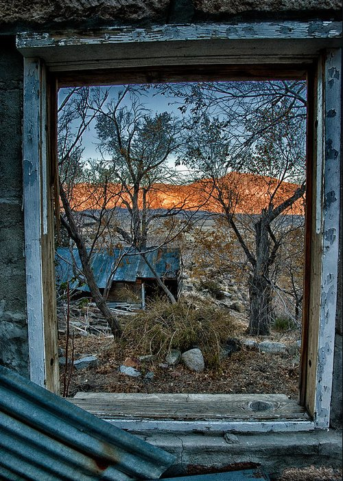 Wood Greeting Card featuring the photograph Out The Window by Cat Connor
