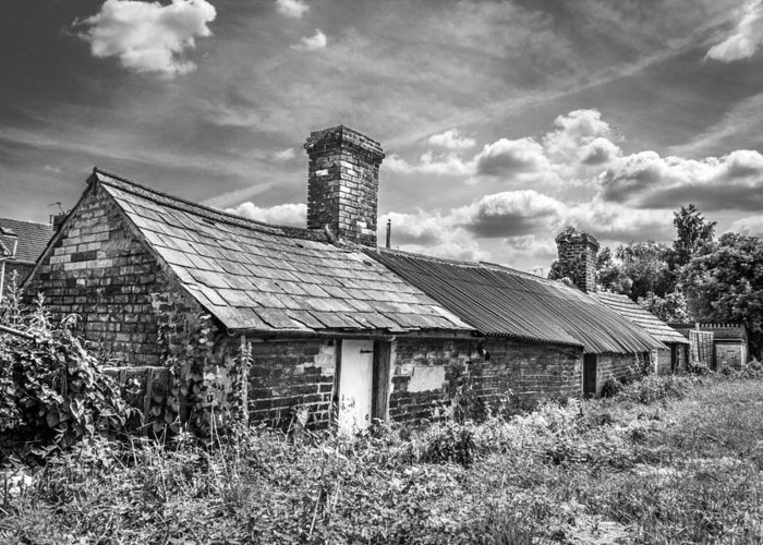 Outbuildings Greeting Card featuring the photograph Outbuildings. by Gary Gillette