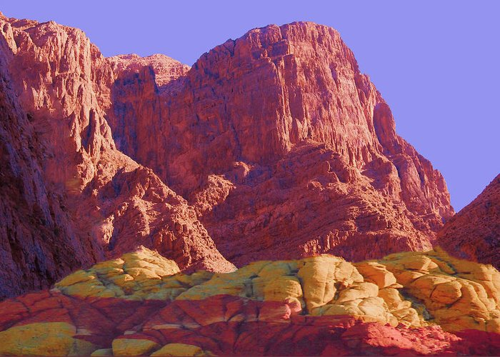 Nature Greeting Card featuring the photograph Outcrop by Mike Andre