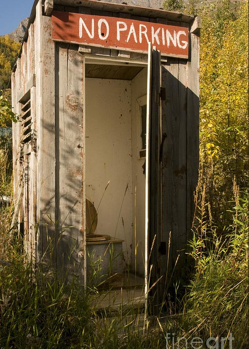 Outhouse Greeting Card featuring the photograph Outdoor Plumbing by John Remy
