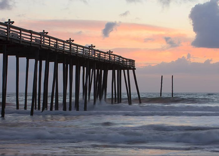 Atlantic Greeting Card featuring the photograph Outer Banks Sunrise by Adam Romanowicz