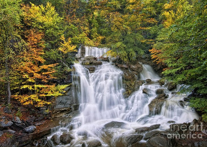 Kaaterskill Falls Greeting Card featuring the photograph Over The Rocks by Claudia Kuhn